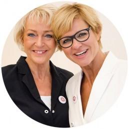 nicola schroeder und joana bachmann von npunkt kosmetik in Düsseldorf